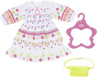 Baby Born Trendy Boho Dress & Bag Baby Doll Outfit for 39-46cm Dolls Zapf
