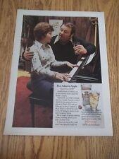 1973 VINTAGE PRINT AD FOR SMIRNOFF VODKA THE ADAM'S APPLE RECIPE COUPLE AT PIANO