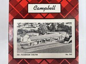 Campbell  Passenger Shelter Wood Building Model Kit HO 362