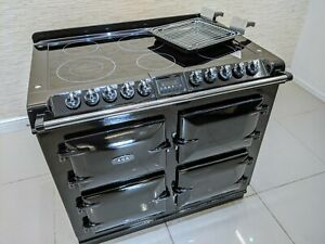 AGA S SERIES SIX FOUR CERAMIC ALL ELECTRIC RANGE COOKER IN BLACK A666