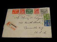 Vintage Cover,GRAVENHAGE,NETHERLANDS,REGISTERED,1935,Multi-Stamped To Louisville