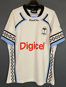 MEN'S KOOGA RUGBY UNION FIJI NATIONAL 2009/2010 HOME SHIRT JERSEY MAILLOT SIZE L