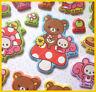 San X relax bear rilakkuma Mushroom Forest puff sticker 1pc