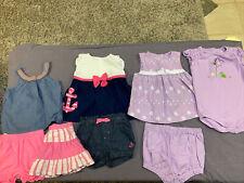 Girls Gymboree Oshkosh Dresses, Tanks Shorts Sailor Turtle 12-24 Months Lot Of 8