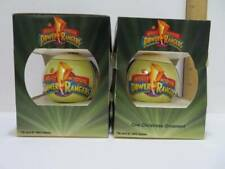 2 Power Rangers Mighty Morphin 1994 Christmas Ornaments with Boxes