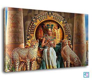 Nefertiti beautiful egyptian queen fantasy art Canvas Wall Art Picture Print