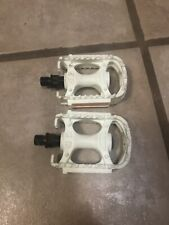 "New Old Stock Kids White 1/2"" Pedals With Reflectors"
