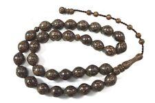 Muslem Prayer Beads (33) Oval Arenga pinnata Heartwood Tasbih Misbaha Subha