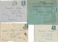 FRANCE FOUR 1920's COVERS WITH 1f50 BLUE TO ENGLAND   MY REF  436