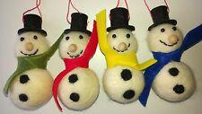 JOB LOT wholesale 30 SNOWMAN CHRISTMAS TREE DECORATIONS felt wool NEW