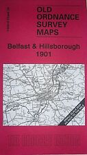 Old Ordnance Survey Map Belfast & Hillsborough Ireland 1901 Sheet 36