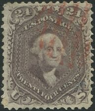 #78  24c  LILAC WITH RED GRID CANCEL.  SCV = $375.00..  ks 97