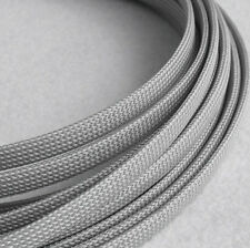 Braided Expandable Cable Loom Auto Harness Wire Sleeving Sheathing 50mm GREY 1m