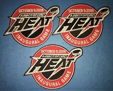 3 Lot AHL Abbotsford Heat Inaugural Game  Hockey Jersey Shoulder Patches Crests
