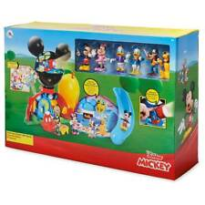 NEW! Disney Junior Mickey Mouse Clubhouse Deluxe Playset Lights Sounds Figures!