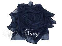 Ladies soft Maxi Plain Viscose/Rayon Shawl Scarf Hijab Sarong Wrap