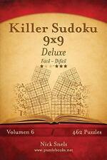 Killer Sudoku: Killer Sudoku 9x9 Deluxe - de Fácil a Difícil - Volumen 6 -...