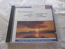 RACHMANINOV - PIANO CONCERTO NO.2 / RHAPSODY ON A THEME OF PAGANINI 1992 DECCA
