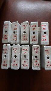 Fusible Ancien Porcelaine PTT 3 Ampères ligne téléphone Neuf