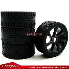 4pcs 1/8 RC On road Buggy Reifen Tires Tyres & 1:8 Felgen Wheel Rims Hex 17mm