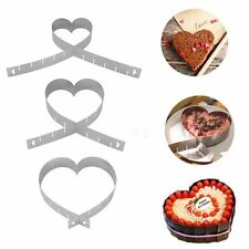 Cutter Ring Mousse Cake Mold Baking Pan Adjustable Heart Shape Stainless Steel