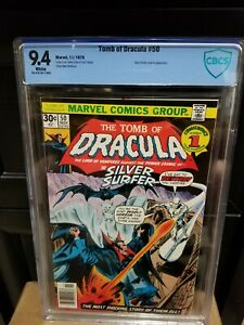 Tomb of Dracula #50 NM 9.4⛓️Silver Surfer🔥CBCS not CGC Marvel High Grade Key