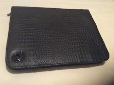 """Embassy Genuine Black Leather Tablet Case 9-1/2"""" x 7"""" outside dimension"""