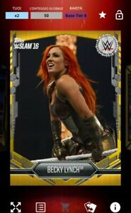 TOPPS WWE SLAM - Becky Lynch Gold Rush 50cc 2016 - DIGITAL CARD