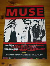MUSE - SIGNED AUTOGRAPHED 2017 Australia Tour Poster - Laminated.