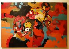 ROCKY VS APOLLO - quadro acrilico 90x60cm dipinto a mano