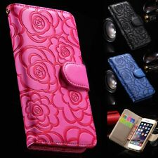 Luxury Women Girl Flip Wallet Leather Case Cover For Apple iPhone 5 6 7 8 X Plus