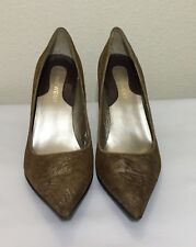 Women's Nine West Brown Metallic Pointed Toe Pumps Size 5.5