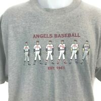 Vintage '90s 1997 Anaheim Angels MLB Baseball Men's Gray T-Shirt Uniforms Sz XL