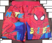 Marvel Ultimate Spider-Man Boys Swim Trunks NWT Size 18M with UV Protection
