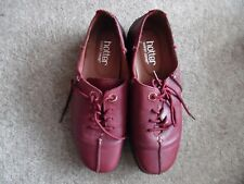 Hotter Shoes.Size UK 5.Dark Red 100%Leather.