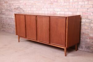 Merton Gershun for American of Martinsville Walnut Credenza, Newly Refinished