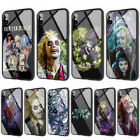 Beetlejuice Tempered Glass TPU Case for iPhone XS Max X 8 7 6 6S Plus