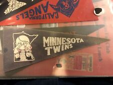 1960's Vintage Minnesota Twins Baseball MLB 4x8.75 Mini Pennant