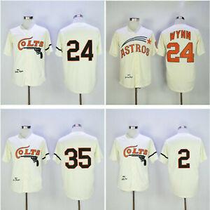 1962 Houston 35 Joe Morgan 2 Nellie Fox 24 Jimmy Wynn Baseball Jerseys