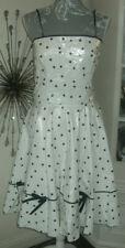 Montcler Classics PVC Polka Dot Full Skirt Lined Dress Size M
