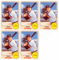 (5) 1993 Sports Cards #15 Travis Fryman Baseball Card Lot Detroit Tigers