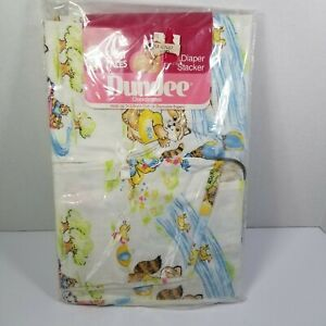 """VTG 1980 DUNDEE DIAPER STACKER """"Shirt Tales""""  Cotton Animals Characters USA"""