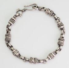Bali style bracelet Intricate vintage sterling silver
