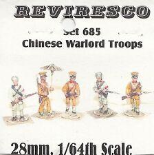 Chinesische Warlord Kämpfer - 20. Jahrhundert - 6 Zinnfiguren  1:64 / 28mm