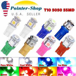10/20/50/100pcs T10 5050 5-SMD LED Dome Map License Interior Light Bulbs 168 194