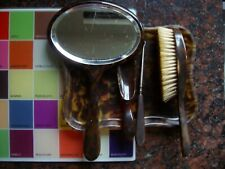 Vintage Bakelite? Dressing Table Vanity Set Tray/Brush/Mirror/Shoehorn/LacePull