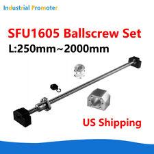 Ball Screw Sfu1605 250mm 2000mm Nut Housing Amp Bk12 Bf12 635x10mm Coupler Set