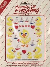 Plaid Enterprises - Accents on Everything Rub On Paints - Baby Ducks No. 57001