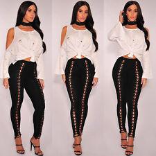 Damen Zerrissen Knie Schnitt Jeans Promi enge Passform Skinny Größen 6 to 12