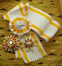 Japanese order of Sacred Treasure 1st Class / One set with SASH